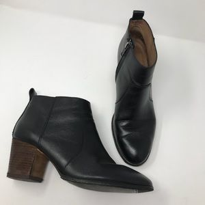 Madewell Ankle Boots Size 9 Black Leather